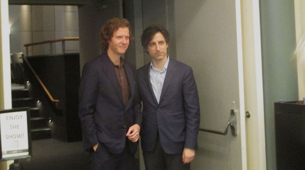 De Palma directors Jake Paltrow and Noah Baumbach enjoy the show!