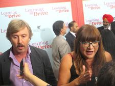 Jake Weber with Learning to Drive director Isabel Coixet and Harpreet Singh Toor