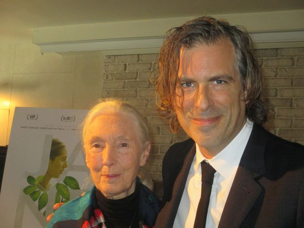 Jane Goodall with Jane director Brett Morgen