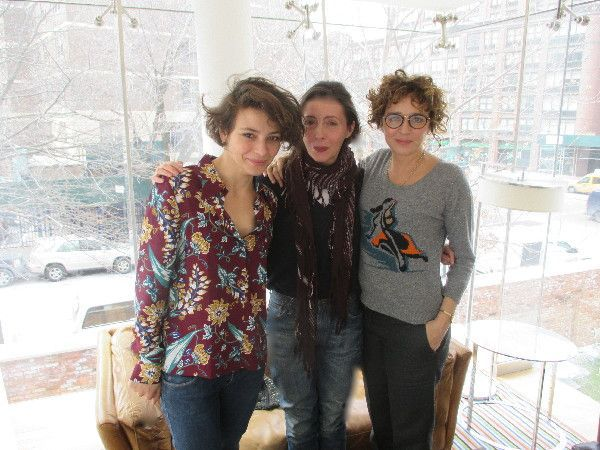 "Honey (Miele) star Jasmine Trinca, Anne-Katrin Titze with director Valeria Golino in New York: ""As soon as I see glass, I want to film it."""