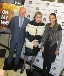 Catherine Deneuve with Jean-Paul Salomé and Isabelle Giordano from uniFrance
