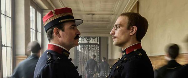 Jean Dujardin as Colonel Picquart and Louis Garrel as Albert Dreyfus in An Officer And A Spy
