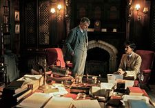 GH Hardy (Jeremy Irons) with S Ramanujan (Dev Patel)