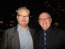"Jim Gaffigan plays Bob McDonough's father in Experimenter: ""Do we look alike?"" they ask me."