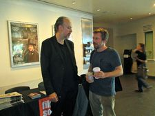 Co-screenwriter Kent Jones with Mathieu Amalric, star of Jimmy P: Psychotherapy Of A Plains Indian.