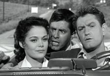 Joan Blackman with Jerry Lewis and Earl Holliman in Visit To A Small Planet