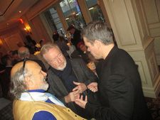 Joe Pantoliano with Ridley Scott and Matt Damon at the Twentieth Century Fox 21 Club Martian tea