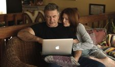 "John (Alec Baldwin) with Alice: ""He wants her to be more presentable, more like the wife he was proud of."""