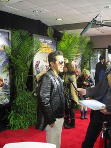 On the Walking With Dinosaurs red carpet, John Leguizamo spoke to me about deflated dinosaurs