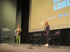 John Waters and Isabelle Huppert at the Film Society of Lincoln Center