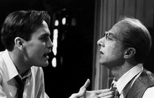 John Malkovich and Dustin Hoffman in Volker Schlöndorff's film Death Of A Salesman