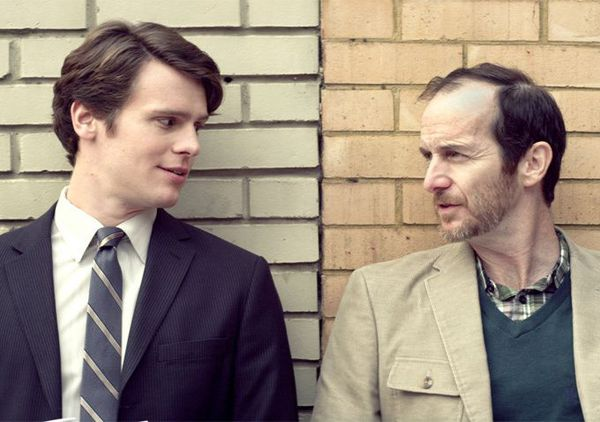 Jonathan Groff as Samuel and Denis O'Hare as Jon looking for the next Miss America pageant.
