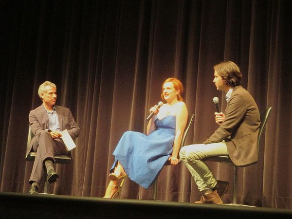 Queen Of Earth's Elisabeth Moss and director Alex Ross Perry at MoMA with Josh Siegel