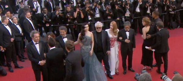 Pedro Almodóvar's Jury on the red carpet for the last time before tonight's awards ceremony