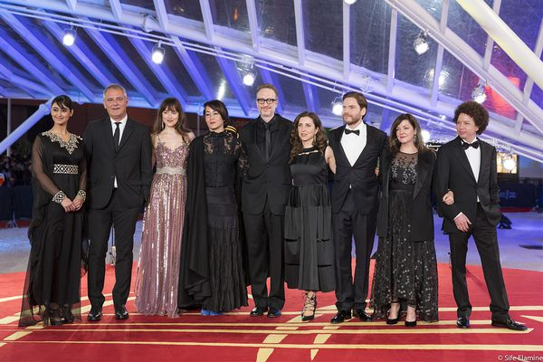 The jury at this year's festival, headed by James Gray, centre