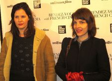 Justine Triet director of Age of Panic with Miss and The Doctors director Axelle Ropert co-screenwriter of Serge Bozon's Tip Top