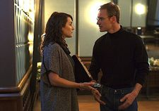 Joanna Hoffman (Kate Winslet) with Steve Jobs