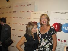 Katie Couric with Savannah Guthrie at Laurie David's Fed Up MoMA premiere in 2014