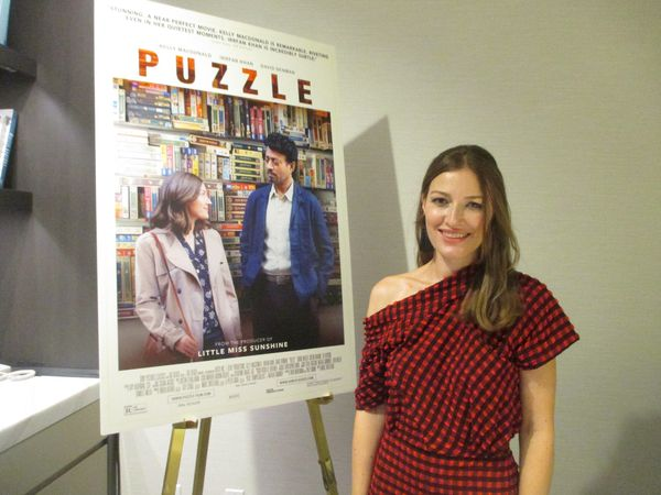 "Kelly Macdonald on working with Puzzle director Marc Turtletaub and Irrfan Khan, David Denman, Bubba Weiler, Austin Abrams, and Liv Hewson: ""It's very much on the day, on set, I believe that's when it really begins for me."""