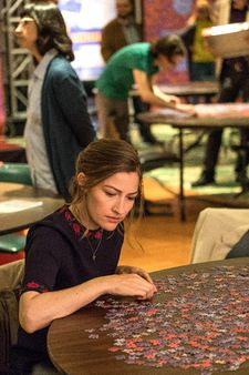 "Kelly Macdonald: ""I was doing puzzles in the evening when I wrapped work for the day. I had a puzzle on the go at home."""