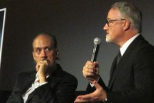 Kent Jones with Gone Girl director David Fincher at the 52nd New York Film Festival
