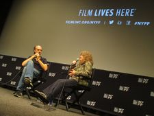 Laura Israel with Kent Jones at the 2015 New York Film Festival for Don't Blink: Robert Frank