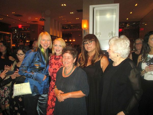 Learning To Drive star Patricia Clarkson with Sarah Kernochan, Katha Pollitt, Isabel Coixet and Thelma Schoonmaker