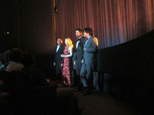 Ben Kingsley, Patricia Clarkson, Gabriel Hammond and Daniel Hammond at The Paris Theatre
