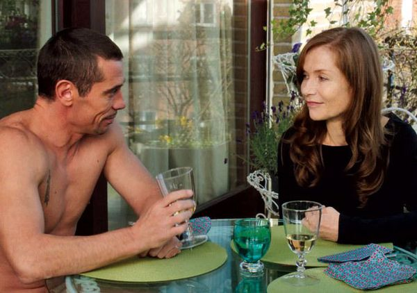 Kool Shen as Vilko and Isabelle Huppert as Maud: 'He is a swindler but not violent.'