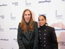 Laurie Simmons with Shirin Neshat on the FFFEST red carpet
