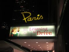 Learning To Drive at The Paris Theatre