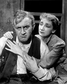 Lee J Cobb and Mildred Dunnock in Elia Kazan's production of Death Of A Salesman