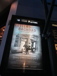 Letters From Baghdad poster at the Angelika Film Center