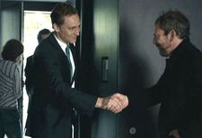 "Liam Gillick as H greets estate agent Tom Hiddleston: ""It was such a great place to film."""