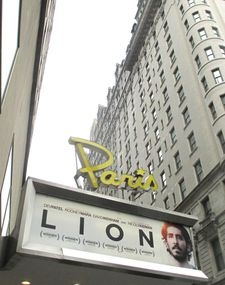 Lion at The Paris Theatre in New York