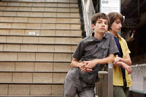 Michael Barbieri and Theo Tapliz in Little Men - when 13-year-old Jake's grandfather dies, his family moves back into their old Brooklyn home. There, Jake befriends Tony, whose single Chilean mother runs the shop downstairs. As their friendship deepens, however, their families are driven apart by a battle over rent, and the boys respond with a vow of silence.