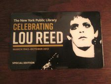 Ed Bahlman's Lou Reed New York Public Library card