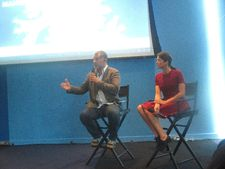 Luc Jacquet and Marion Cotillard present Ice & Sky in Le Skyroom of the French Institute Alliance Française