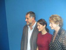 Luc Jacquet and Marion Cotillard with Marie-Monique Steckel, President of the French Institute Alliance Française