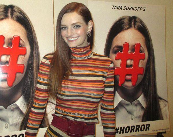 "Lydia Hearst on Tara Subkoff at #Horror premiere: ""She has such an incredibly beautiful vision."""
