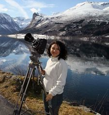 "Marah Strauch on the set of Sunshine Superman: ""I'm looking into a Scandinavian fiction project. I love landscapes."""
