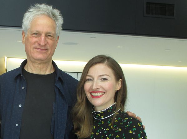 Marc Turtletaub with his Puzzle star Kelly Macdonald at Sony Pictures Classics