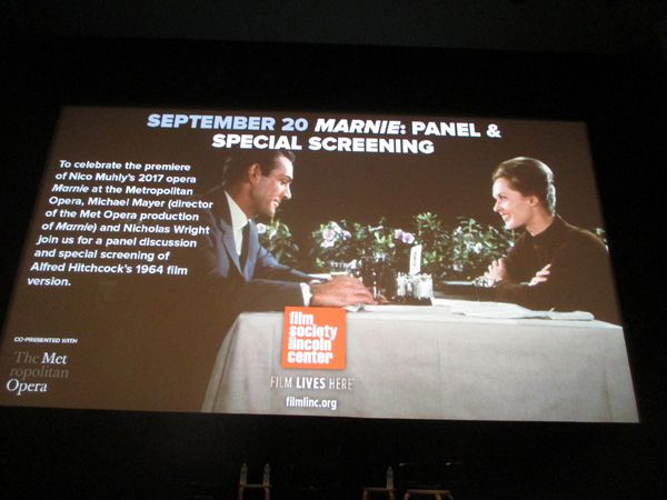 Marnie panel and screening with Nicholas Wright and Michael Mayer at the Film Society of Lincoln Center