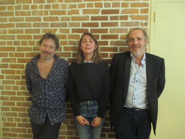 The lineup for Ismael's Ghosts: Director's Cut - Mathieu Amalric with Anne-Katrin Titze and director Arnaud Desplechin