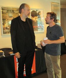 Mathieu Amalric with New York Film Festival Director of Programming and Selection Committee Chair Kent Jones