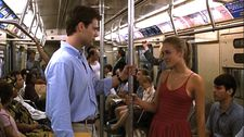 Josh (Matt Keeslar) with Alice (Chloë Sevigny) in a New York City subway car