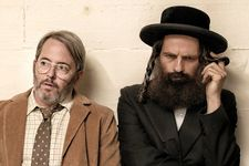 Albert (Matthew Broderick) with Hasidic cantor Shmuel (Géza Röhrig) have astounding chemistry in their To Dust misadventures.