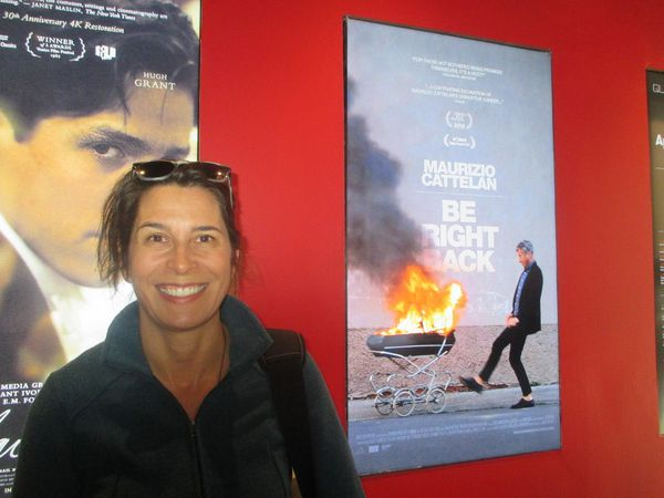 Maurizio Cattelan: Be Right Back director Maura Axelrod at the Quad Cinema