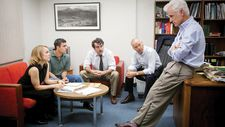 Rachel McAdams, Mark Ruffalo, Brian d'Arcy James, Michael Keaton and John Slattery dressed for Spotlight