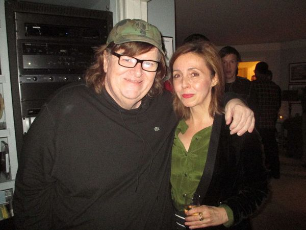 "Michael Moore with Anne-Katrin Titze: ""It's about going to countries that have great ideas."""